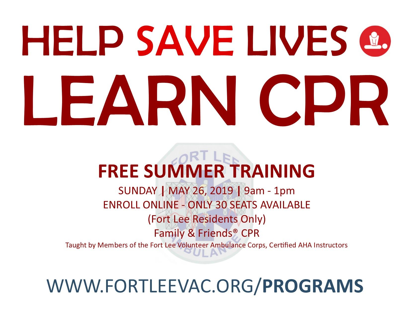 Community CPR Ad May 2019