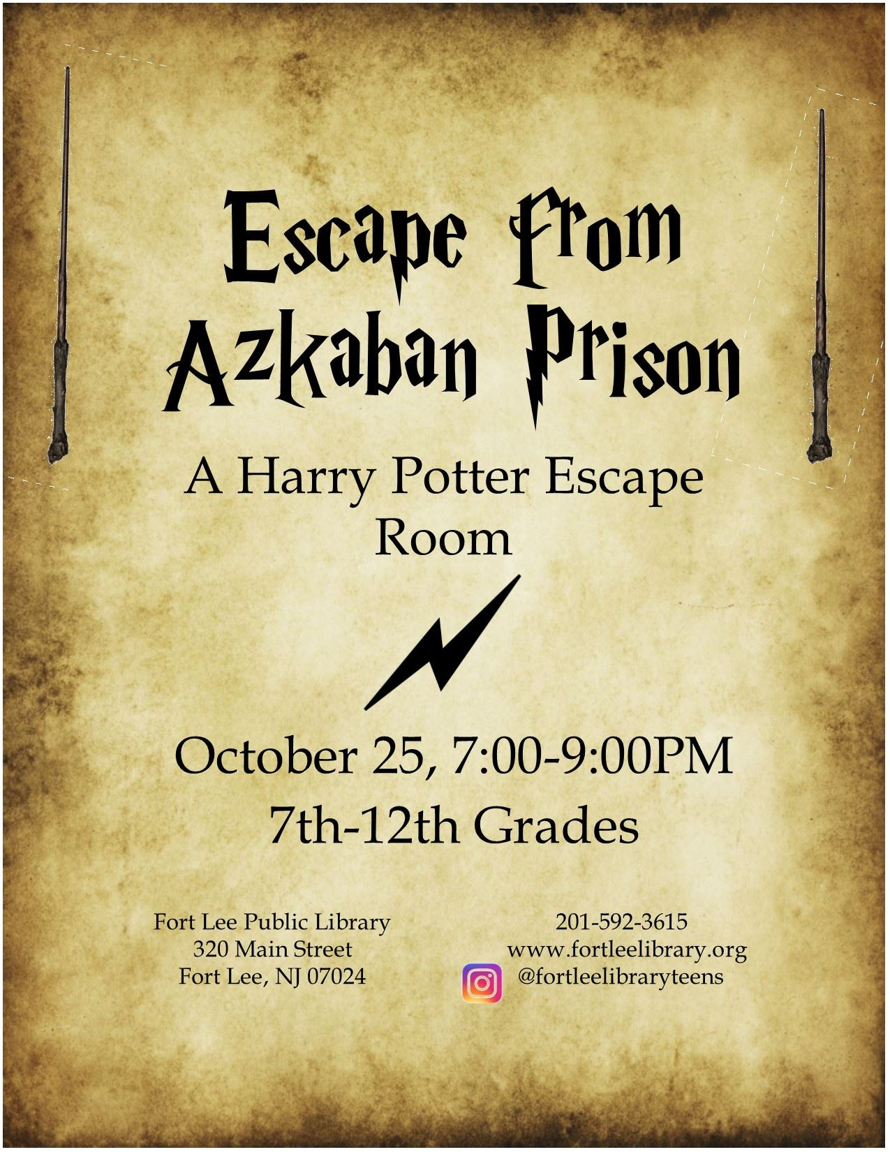 TEEN Harry Potter Escape October 2019