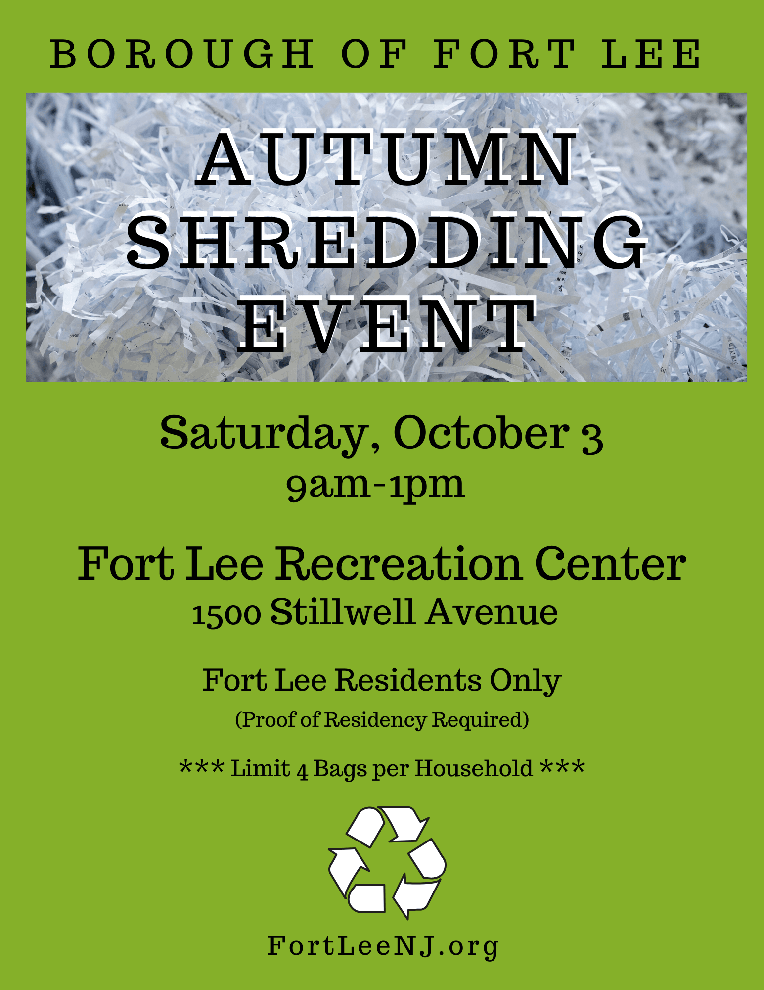 Autumn Shredding Event Oct 2020