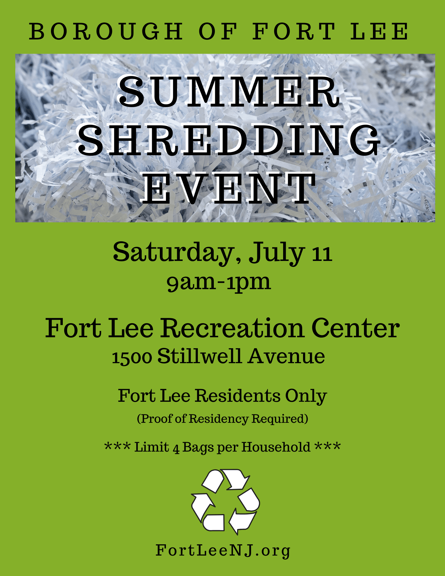 Summer Shredding Event