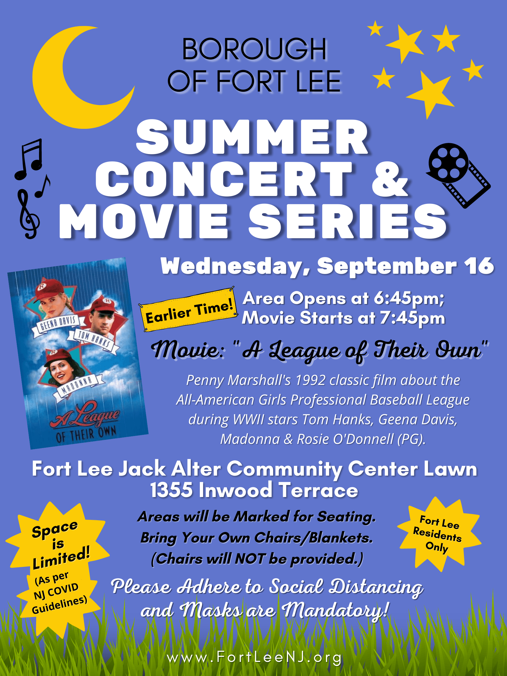 Summer Concerts and Movie League 091620