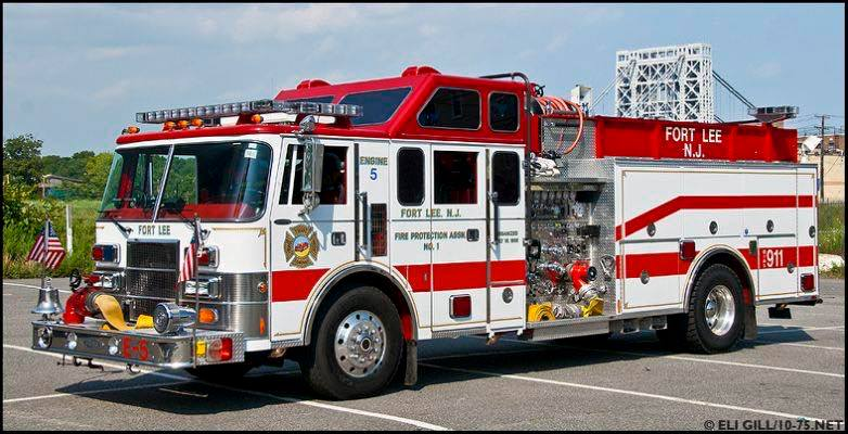 White and Red Fire Truck